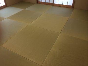 野田市山崎 T様邸 ヘリ無し畳 カラー畳 新畳入れ替え 施工後