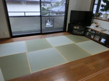 松戸市五香 K様邸 ヘリ無し畳からヘリ付き畳へ表替え 施工後