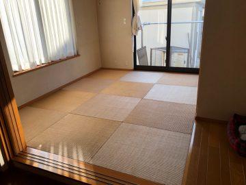柏市布施 S様邸 琉球畳から畳縁付き畳へ表替え 施工前
