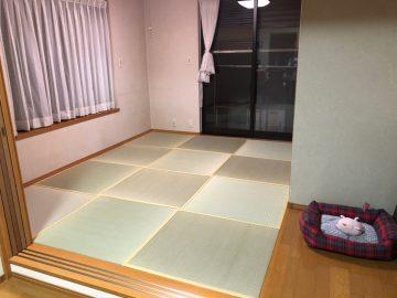 柏市布施 S様邸 琉球畳から畳縁付き畳へ表替え 施工後