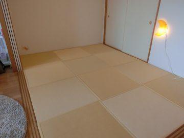 流山市駒木 H様邸 カラー畳縁付き新畳 半畳サイズの市松敷き 施工後